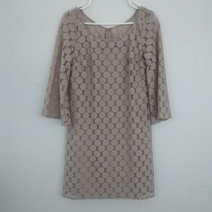 Muse | symmetrical beige dress sz 6